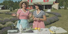 Around the Farm Table-Lavender Ladies